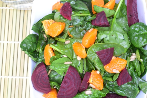 Baby Spinach and Beet Salad