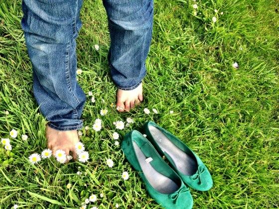 feeling the grass under my feet