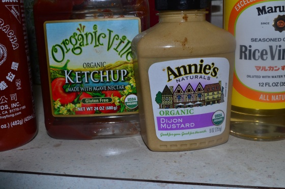 These are the brands of organic ketchup and mustard that I use.  The ketchup has NO high fructose corn syrup in it. I highly suggest throwing out any ketchup that you have around that has this ingredient in it.